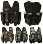 Paintball Vest Den-Ops Tactical Assault Harness Pot Carrier FREE Remote Cover