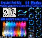 FLOWTOYS LED Poi - Crystal Poi 1 Pair(Flowlights+Cases+Single SWIVEL Leashes)