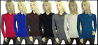 Womens Ladies V Neck Acrylic Cable Knitted  Full Sleeve Jumper