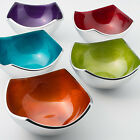 FAIR TRADE 4 POINT ALUMINIUM BOWL IN 5 COLOURS- RED, ORANGE, PURPLE, TEAL & LIME