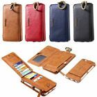 Floveme 2in1 Ratro Real Leather CreditCard Wallet Case For Samsung Galaxy Note 5