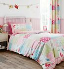 Catherine Lansfield Pink Canterbury Patchwork Duvet Set S/D Optional Accessories