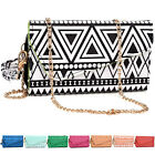 Tribal Pattern Crossbody Wristlet Wallet for 5 Phone Sony Samsung Xolo Verykool