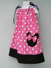Minnie Mouse Girl Pillowcase Dress Size Mult-col Size 4 6 8 10 12 Choose Color
