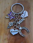 Thank you Bridesmaid, Flower girl Gift Keyring - Wedding Keepsake Gift-