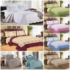 Luxury Bedspread 3 piece Embroidered Quilted Bed Spread /Comforter Set Bed Throw