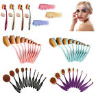 10PCS Makeup Beauty Toothbrush Foundation Oval Cream Puff Shaped Power Brushes
