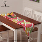 Double Weft Canvas Leaf Print Table Runner, Multi-color
