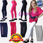 Girls Full Length Decorated With Sequins Leggings 8 9 10 11 12 13 14 15 years