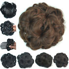 75g Women Clip In Wave Curly Combs Hair Bun Synthetic Hairpiece Flower Chignon