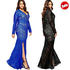 Plus Size 3XL-8XL Women Summer Long Sleeve Party Prom Cocktail Casual Long Dress