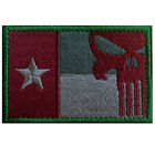 TEXAS TX FLAG PUNISHER USA ARMY U.S. TACTICAL MILITARY 3D EMBROIDERED PATCH *05