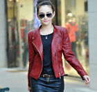 Womens moto biker Bomber Leather jackets designer coat outerwear jacket XXS-XL