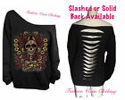 Day of the Dead Off Shoulder Black Sweatshirt S M L XL Plus Size 1X 2X 3X 4X 5X