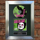 GREEN DAY Uno Album Signed Autograph CD & Cover Mounted Print A4 no32