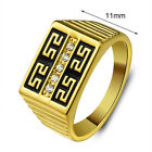 Men Jewelry 18K Gold Plated Ring Fashion Jewelry Rhinestone Allah Rings