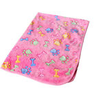 Cute Pet Mat Small Large Paw Print Cat Dog Puppy Fleece Soft Blanket Bed Cushion