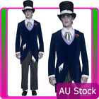 Smiffys Mens Gothic Manor Groom Costume Halloween Corpse Party Walking Dead Hat