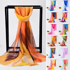 Trendy Women Ladies Chiffon Mixed Color Long Neck Scarf Scarves Shawl Stole Wrap