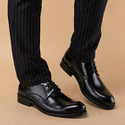 2016 New Men's Cow Leather Shoes O67 Dress Formal Lace ups Black Size 37~44 5~11