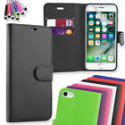 Wallet Flip Case PU Leather Cover for iPhone 7 + Screen Protector & Mini Stylus