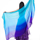 C125 Belly Dancing Costume Veil 100% Silk Scarf Neckerchief Belly Dancing