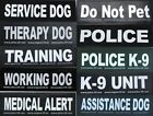 Large Patch for Julius K9 Harness Letters L-Z  NEW SERVICE DOG THERAPY DOG