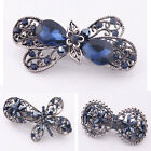 Women Fashion Navy Blue Flower Rhinestone Hair Pins Hairpin