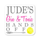 Personalised Gin &  Tonic Wooden Gift Coaster Mat Present