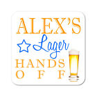 Personalised Lager Drinks Wooden Gift Coaster Mat Present