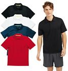 Active Dry Plain Mens Polyester Mesh Breathable Sports Athletic Polo Shirt