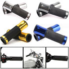 "MOTORCYCLE ALUMINUM RUBBER GEL HAND GRIPS FOR 7/8"" HANDLEBAR SPORT BIKE 5 COLOR $8.77 USD on eBay"