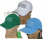 "HUGO BOSS GREEN MEN'S BASEBALL CAP/ GOLF CAP HAT BIG LOGO ""CAP US"" UK STOCK NEW"