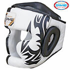 Boxing Head Guard Geuine Leather Kick Boxing, MMA, Training Protector Chin Saver