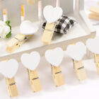 Mini Wooden Pegs Photo Clips Wedding Room Table Decor Shabby Chic Craft