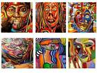 AFRICAN ART -   Square coasters SETS OF 1-2-4 OR 6 Coasters