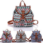 New Women's Canvas Travel Satchel Shoulder Bag Handbag Backpack School Rucksack
