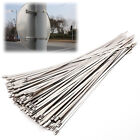 100pcs Top Quality Stainless Steel Metal Cable Ties Tie Zip Wrap Exhaust
