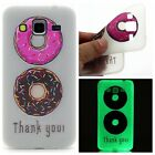 New Night Light Clear TPU Case Cover Back Soft Silicone Skin Dark Luminous Motif