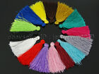 Colorful Cotton Silky Silk Handmade Trim Tassel 40mm For Jewelry Crafts Design