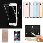 360 Degree Full Protective TPU Soft Clear Gel Case Cover For iPhone 7/7 Plus New