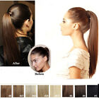 "16-28"" drawstring Clip- In ponytail 100% Real  human hair extension 80g100g120g"