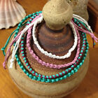 Handmade Hemp Friendship Bracelet or Anklet - One/two colour Double Chain Knot