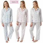 Ladies Womens Marlon Nightwear Poly Cotton Long Sleeve Floral Pyjama Set UK10-30