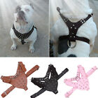 dog spike collars - Spike Adjustable Dog Puppy PU Harness Walking Collar for Bulldog Pitbull Terrier