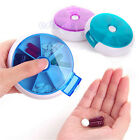7 Day Travel Pill Box Medicine Tablet Storage Vitamin Dispenser Organiser WKAU