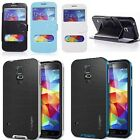 Housse Etui Coque Flip View Leather Case Cover Samsung Galaxy S5 i9600 + Film