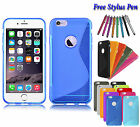 S-Line Wave Soft Silicone Gel Grip TPU Case Cover Holder For Apple iPhone 7 UK