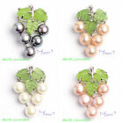 7-8mm Pretty Natural 4 Color Freshwater Pearl Fashion Pendants Free Send Chain