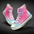 Harajuku Star Pattern Women Men's Hand-painted Canvas Shoes Boy Girl's Sneaker